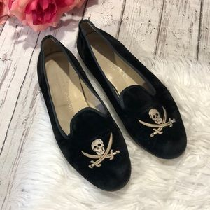 Stubbs and Wooton Pirate Skull and Sword Loafers